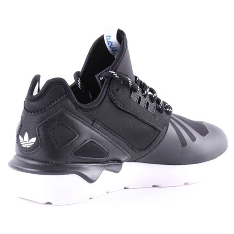 adidas tubular running shoes womens trainers in black white