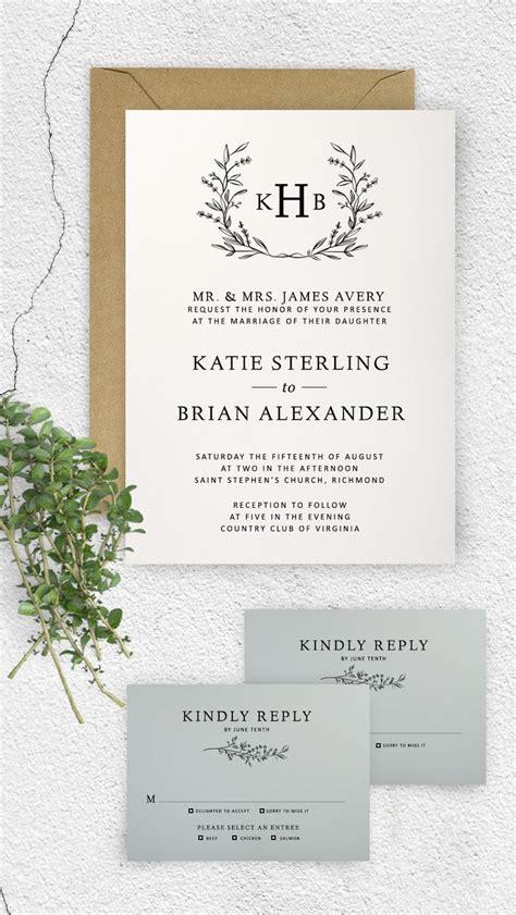 printable monogram wedding invitation templates the 25 best monogram wedding invitations ideas on