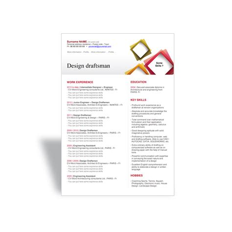resume design templates word word cv r 233 sum 233 template design draftsman word resume cv