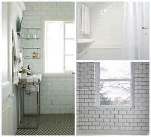 Subway Tiles White tile with white gout from chez larrsson bottom right white subway tile
