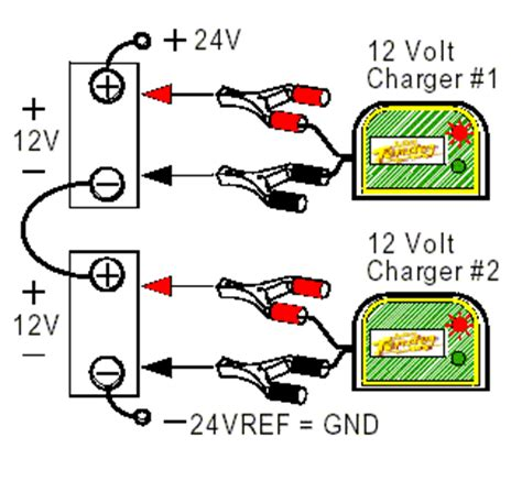 how to hook up 24 volt battery diagram connecting batteries chargers in series parallel
