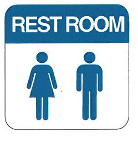 man and woman bathroom sign men and women restroom sign 6 quot x 6 quot allied electronics