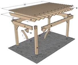 Building An Arbor Over A Patio Planning For A 12 X 20 Timber Frame Over Sized Diy