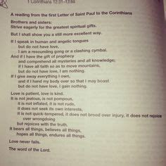 traditional catholic wedding readings this scripture is a special one it was read at my wedding