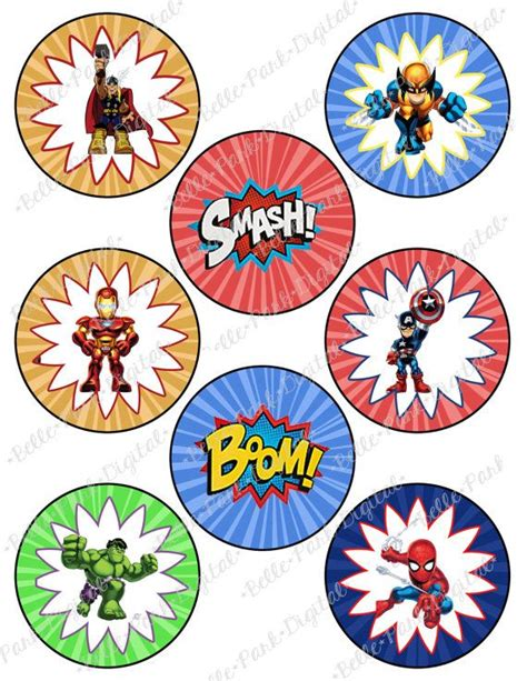 avengers printable party decorations digital superhero superhero squad super hero