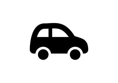 Car Icons by Black Simple Car Icon