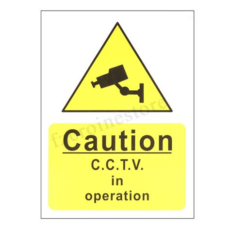 cctv recording warning cctv security stickers signs