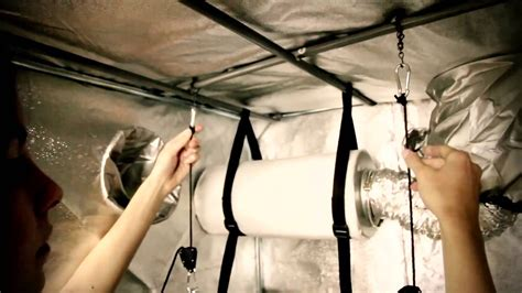 proper way to hang lights how to install a grow light into a grow tent tutorial