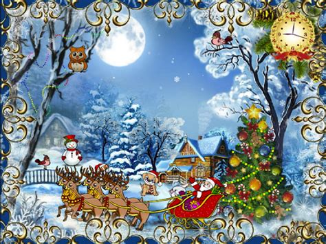 images of animated christmas animated wallpapers and screensavers for your desktop brand thunder