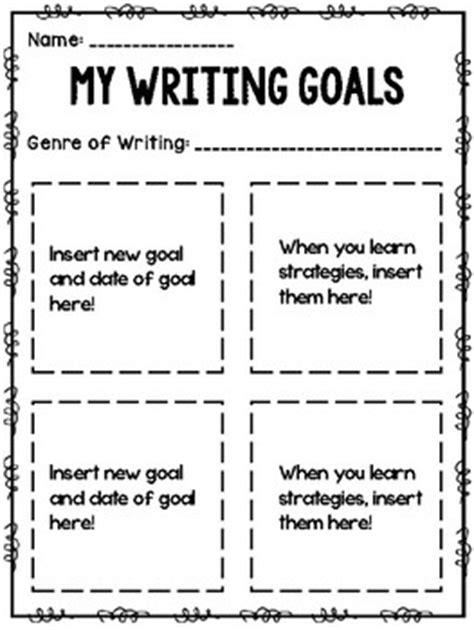 Writing Goals Template By The Teachernista Teachers Pay Teachers How To Write Your Goals Template