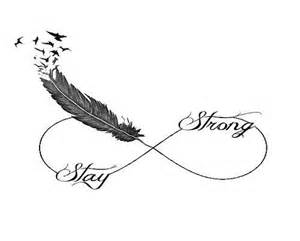 Infinity Symbol With Birds Stay Strong Idea Ideas Am I