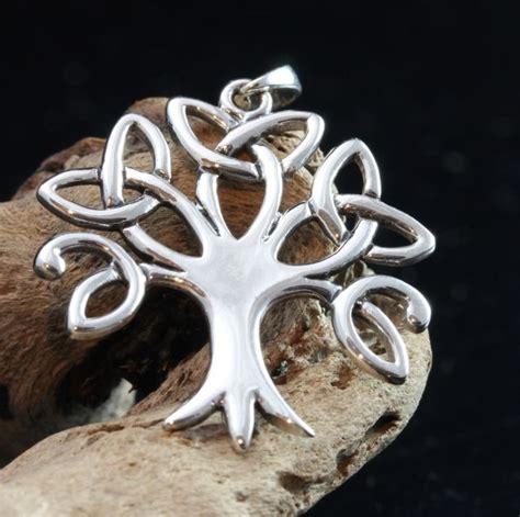 celtic trinity tree of life pendant