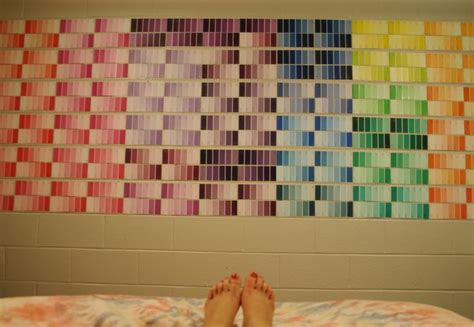 paint swatch wall decor oc olivet college