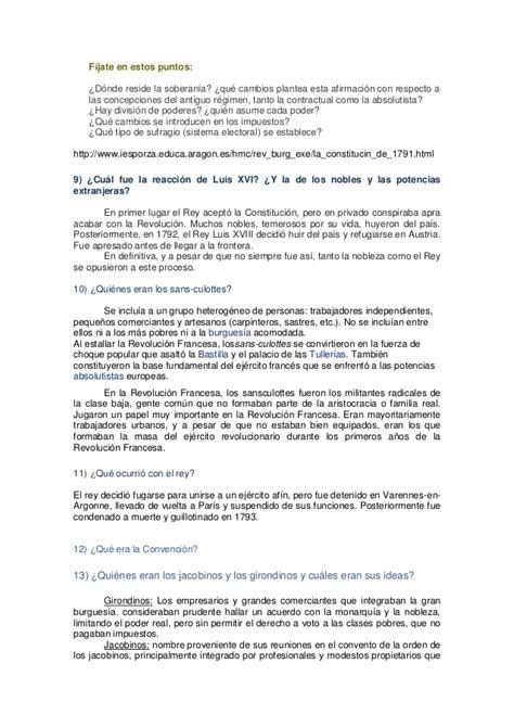 preguntas revolucion francesa preguntas revoluci 243 n francesa