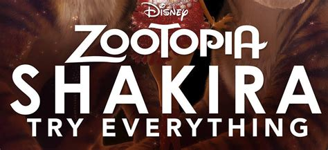 theme song zootropolis shakira drops zootopia s try everything full song