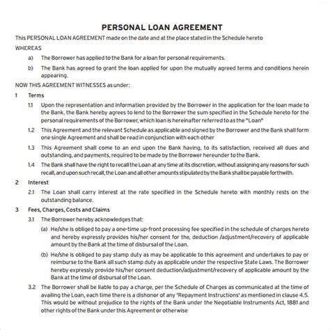 division 7a loan agreement template 28 division 7a loan agreement template loan agreement template 8 free sles exles