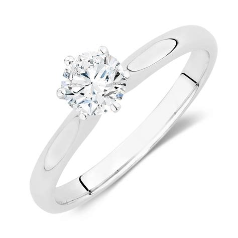 certified solitaire engagement ring with a 1 2 carat tw