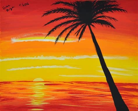 acrylic paint sunset etsy your place to buy and sell all things handmade