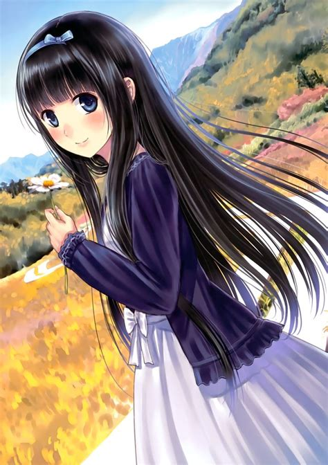 anime girl anime girl with pretty scenery chibi anime pinterest