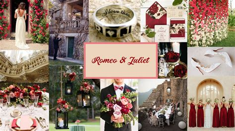 wedding inspiration romeo and juliet moodboard brides by calyxta
