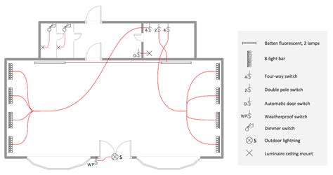 electrical layout plan of residential building electric and telecom plans solution conceptdraw com