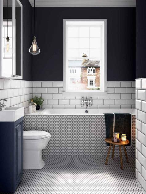 bathroom ideas   classic black  white scheme