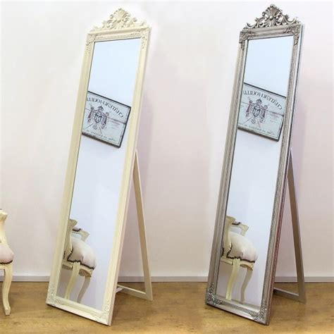lambeth shabby chic wooden framed free standing cheval mirror