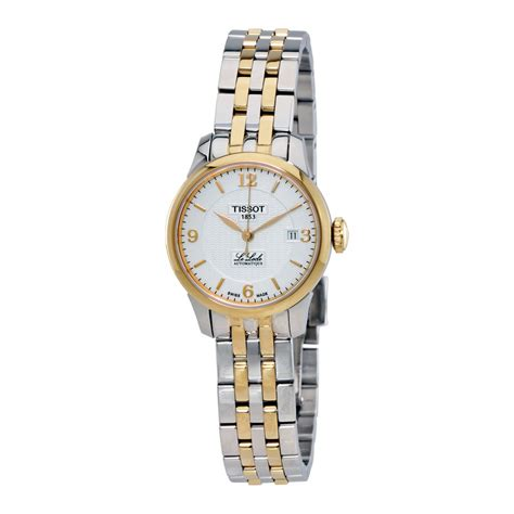 tissot le locle automatic silver two tone