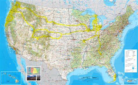 map usa vacation spots us scenic destinations travel guide nature photography by