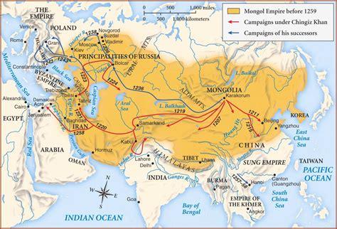 mongol empire map mongols