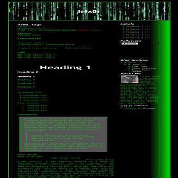 Hacking Templates For Blogger | h4x0r hacker blogger template dhetemplate