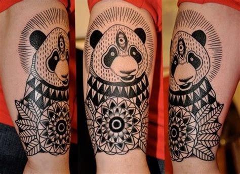 panda mandala tattoo tribal panda tattoo design http heledis com