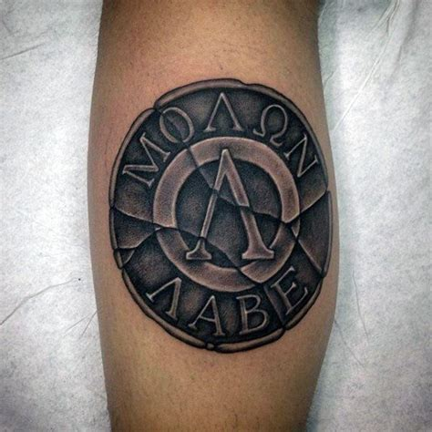 spartan shield tattoo 17 best ideas about molon labe on