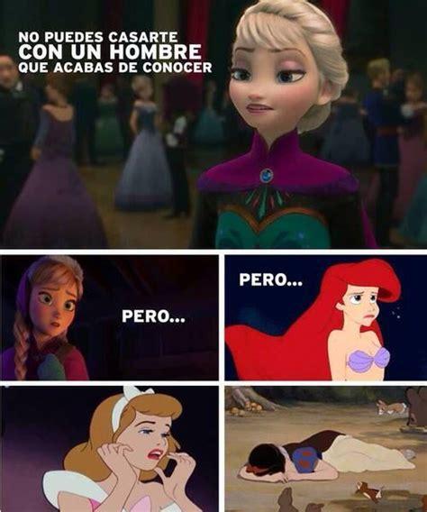 imagenes memes frozen 22 memes de las princesas de disney vas a re 237 r demasiado