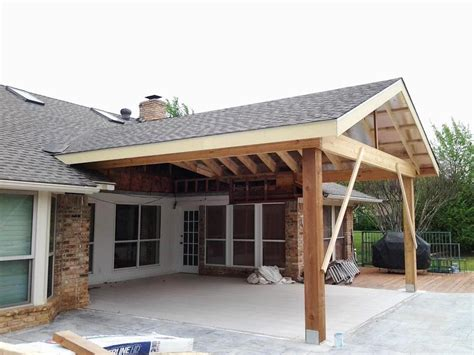 How To Build A Patio Cover Not Attached To House