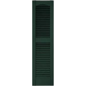 Builders Edge 12 In X 48 In Louvered Vinyl Exterior Home Depot Exterior Shutters