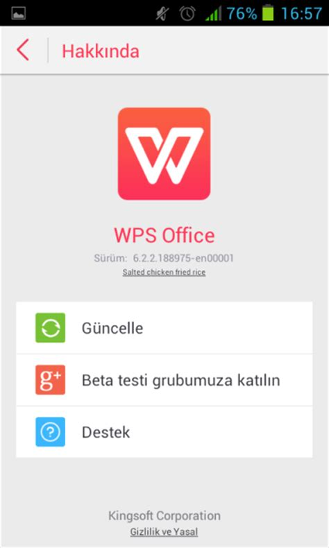 wps office apk wps office android 187 apk indir