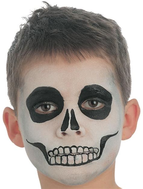 skeleton face paint easy halloween face painting