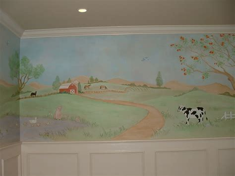 Farm Wall Mural baby room wall murals by colette baby girl wall murals