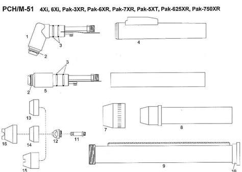 Pch Parts - pch 51 thermal dynamics plasma torch parts
