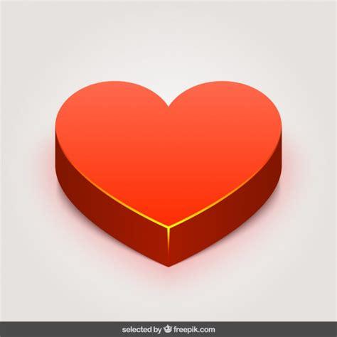 imagenes en 3d de corazones coeur rouge 3d t 233 l 233 charger des vecteurs gratuitement