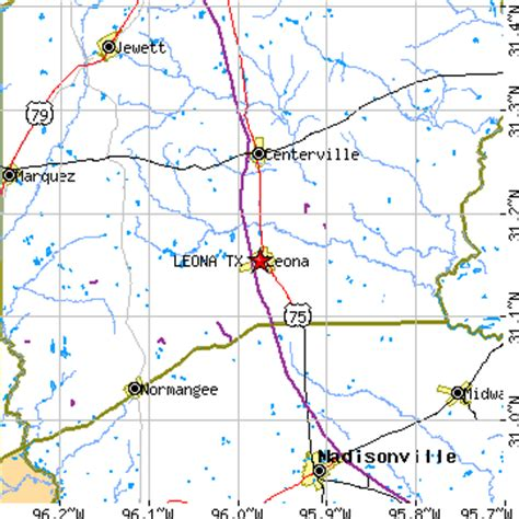leona texas map leona texas tx population data races housing economy