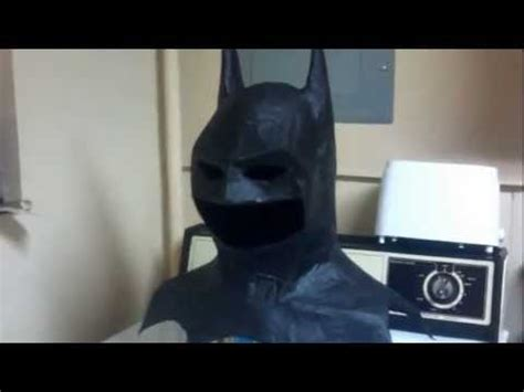 How To Make A Paper Batman - batman cowl paper mache display