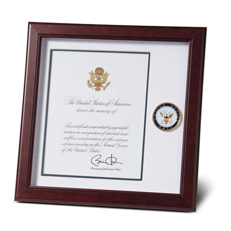 memorial frame u s navy medallion 8 inch by 10 inch presidential memorial certificate frame