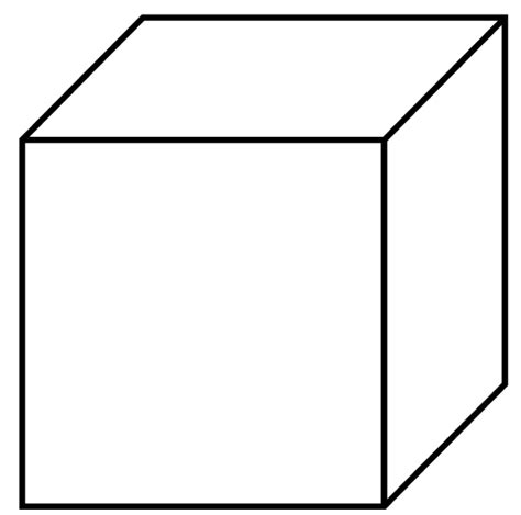 Cube Shape Outline by Shapes Printable Worksheet Cube Shape
