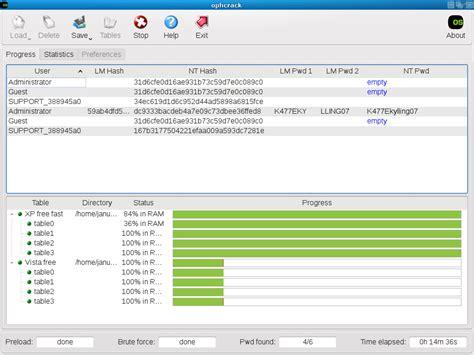 reset vista password using ophcrack cracking windows password using ophcrack