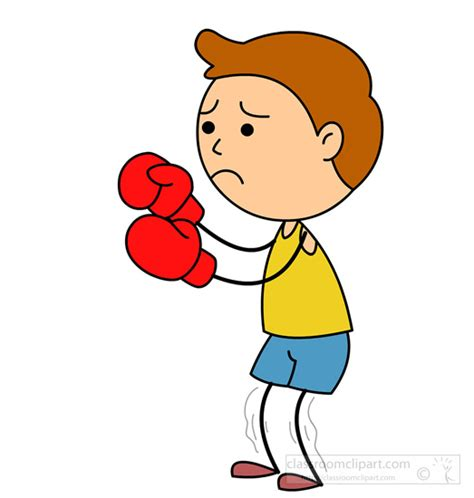 boxing clipart boxing clipart scared boy boxing classroom clipart