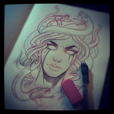 artful dodger tattoo doodlin a medusa for the homie wade can t remember