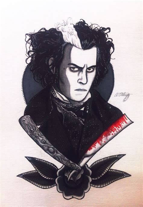 sweeney todd tattoo tim burton s sweeney todd illustrated by christie o