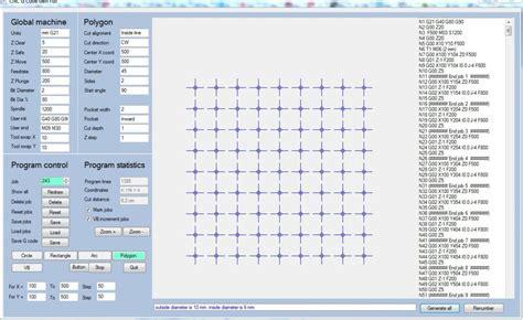 Drawing G Code by Rapid Cnc G Code Generator Program Arcs Polygon Circle